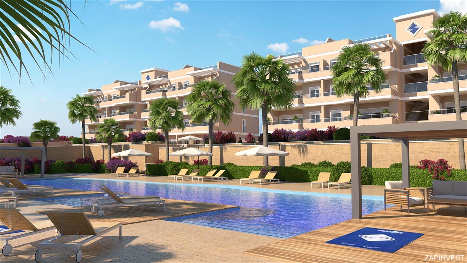 3-slaapkamer appartement met gemeenschappelijk zwembad, speeltuin en buitenfitnessruimte.