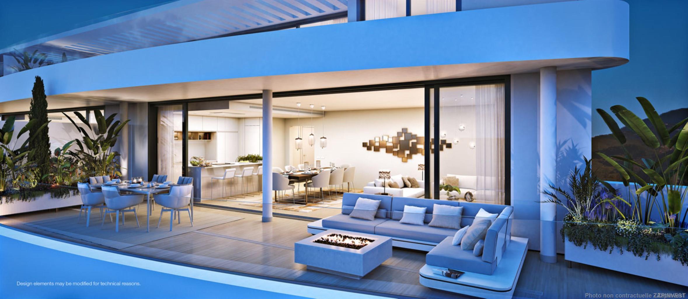 Prestigieux et innovent appartement de luxe avec services hors normes et vues imprenables.